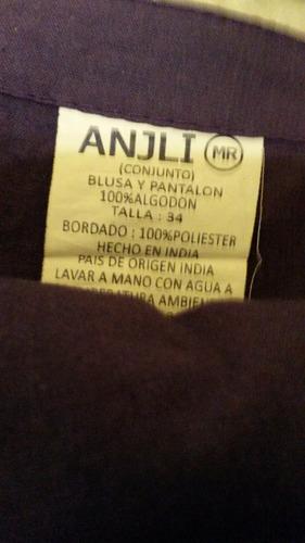 conjunto de mujer talla m o 34, pantalón tipo capri y blusa