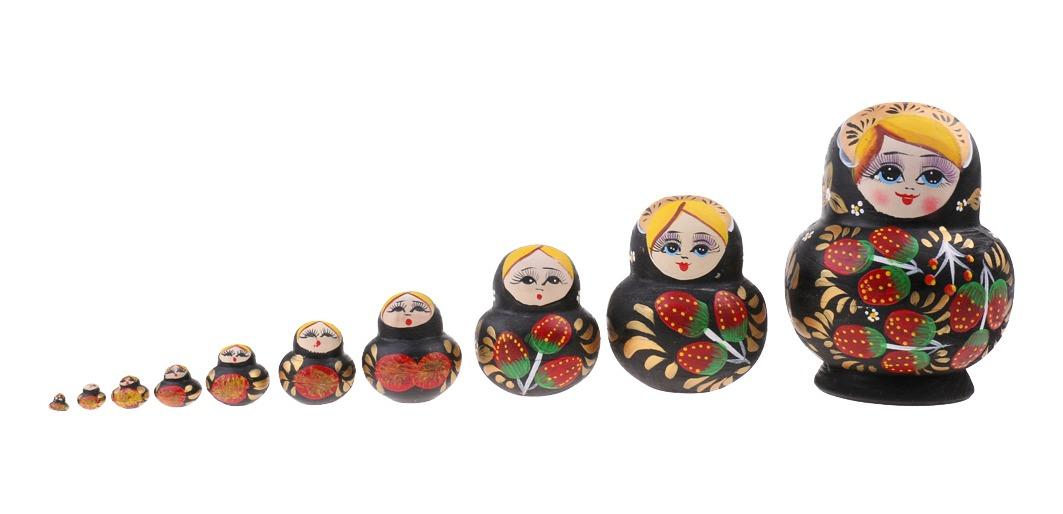Conjunto De Muñeco Ruso De Matryoshka De Anidación De