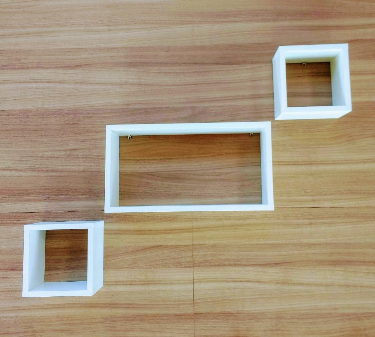 Conjunto de nichos decorativos sala quarto beb mdf for Conjunto de espejos decorativos