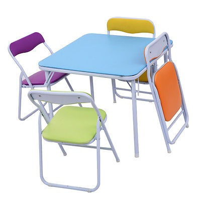 conjunto de niños 5 piezas mesa silla plegable niños...