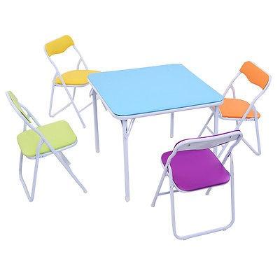 conjunto de niños 5 piezas mesa silla plegable niños muebles