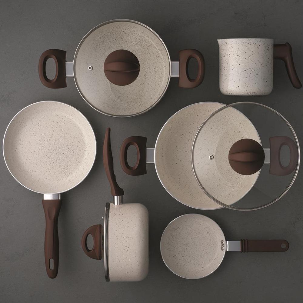 b5565c0cb Conjunto De Panelas 6 Peças Brinox Ceramic Life Smart Plus