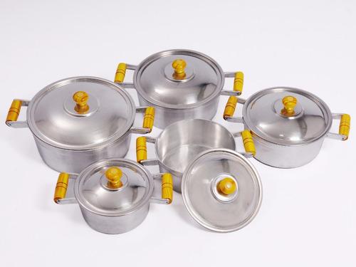 conjunto de panelas aluminio fundido grosso - frete gratis