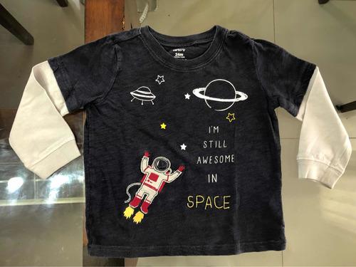 conjunto de pantalón y camiseta carters niño bebé importado