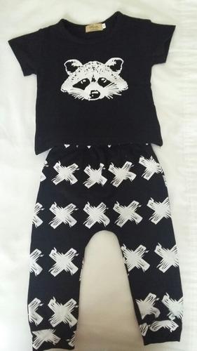 conjunto de pantalón y remera importado talle 6-12 meses