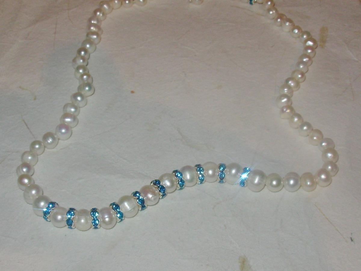 c0eaaae2d623 conjunto de perlas naturales cultivada strass varios colores. Cargando zoom.