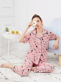 09b44eb96 Conjunto De Pijama Con Botón Con Estampado De Perro