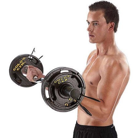 conjunto de placas gimnasio 50 lb olímpica de oro