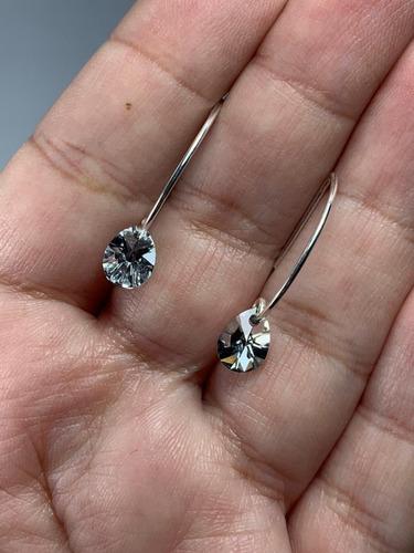 conjunto de plata con cristal swarovski elements  crystal