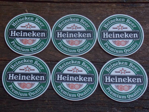 conjunto de porta copos mdf cerveja heineken