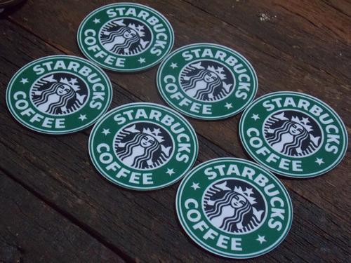 conjunto de porta copos mdf starbucks coffe