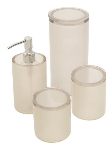 conjunto de potes poliéster cristal