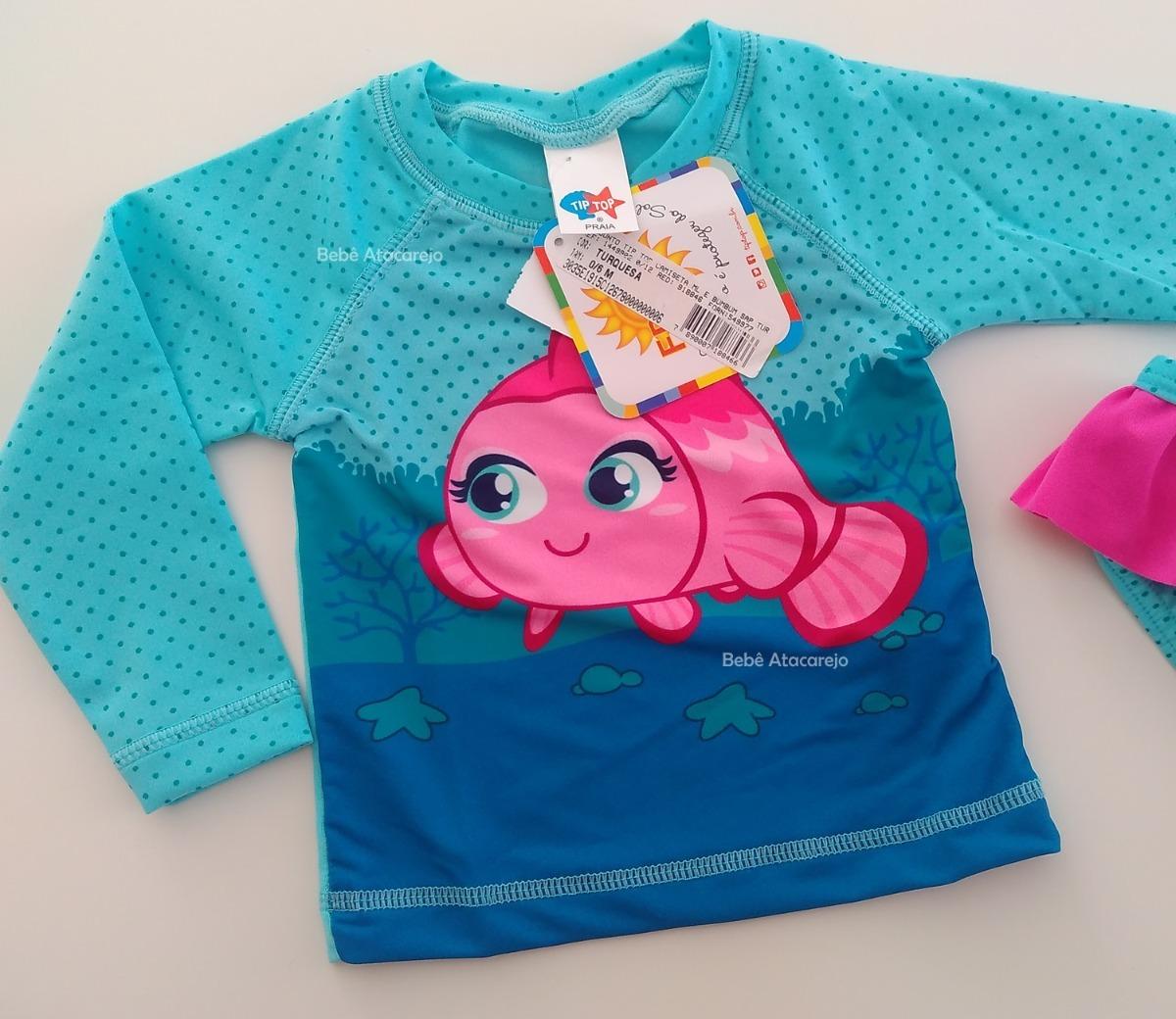 conjunto de proteção solar bebê camisa tip top fps+50uv. Carregando zoom. 7b6ffe35658