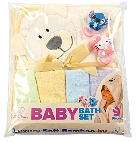 conjunto de regalo para baño de bebé: toalla con capucha de