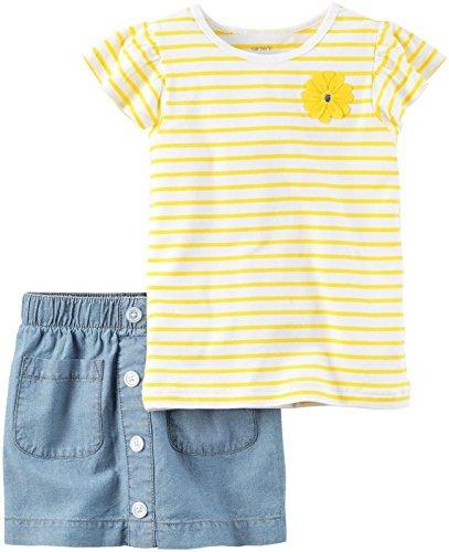 conjunto de ropa carter´s camisa manga corta color amarillo