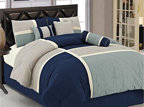 conjunto de sábanas de edredón acolchado acolchado de 7 piez