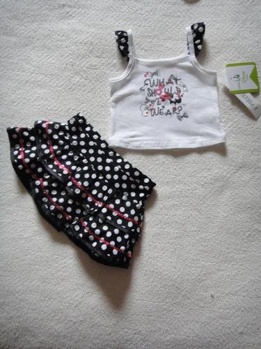 conjunto de saia importado disney baby no tamanho 3 meses