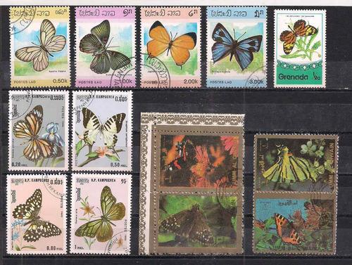 conjunto de selos borboletas!!!