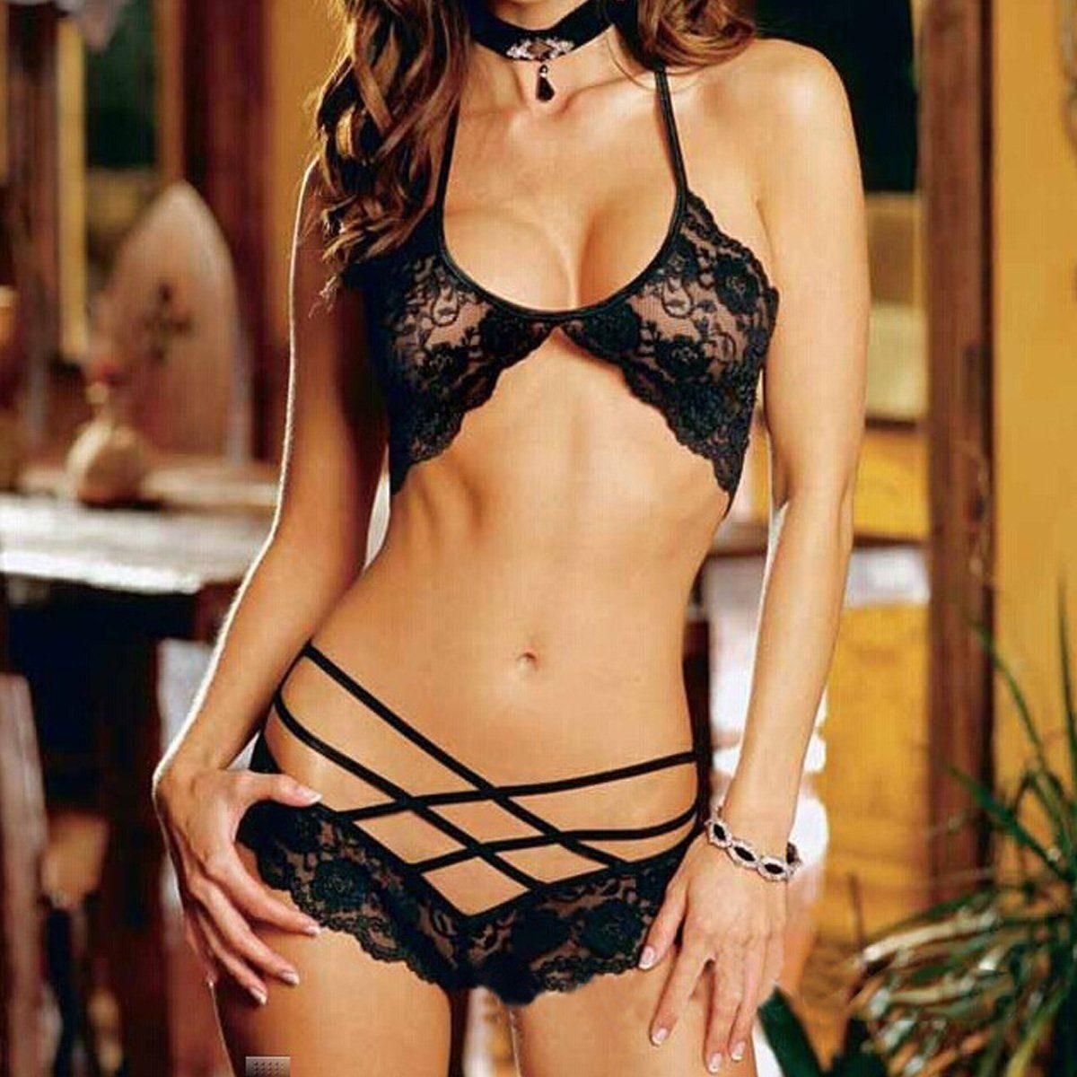Conjunto de sexy ropa interior para mujer en for Conjuntos sexis ropa interior