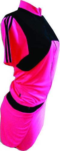 conjunto de shorts saia com forro de espuma para ciclismo