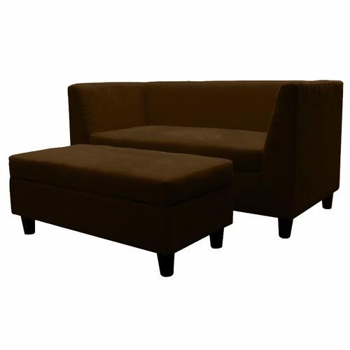 Conjunto de sofa 2 cuerpos baul en microfibra o eco cuero for Sofa cama de 2 cuerpos