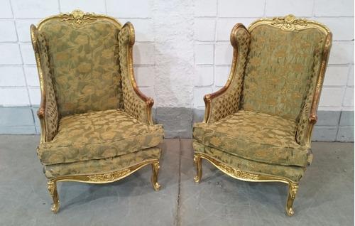 conjunto de sofá estilo clássico luis xv egípcio folheado