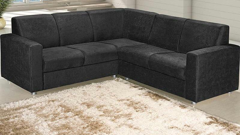 Conjunto De Sofa L 5 Lugares Em Suede Ou Corino R 110000 Em