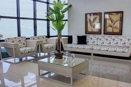 Conjunto De Sofa Para Sala E Area Externa Em Fibra Sintetica