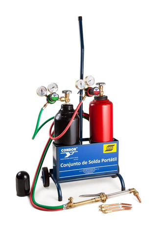 conjunto de solda oxigênio / acetileno condor esab