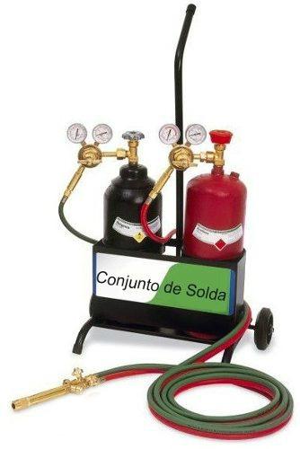 conjunto de solda ppu oxigenio acetileno completo