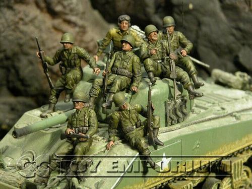 conjunto de soldado estadounidense de la segunda guerra mun