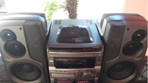 conjunto de som aiwa nsx-s90 tocando cds-f9-f15-t99-mk2