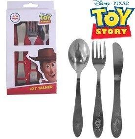 conjunto de talheres de inox 3 peças toy story disney gedex