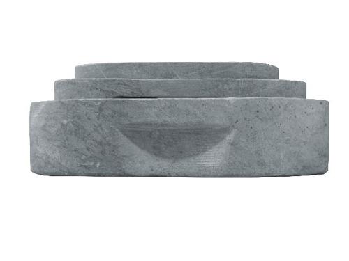 conjunto de travessa retangular em pedra sabão (p, m e g)