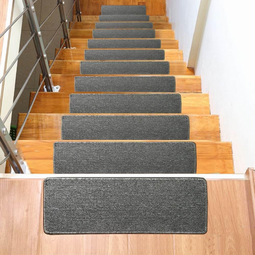 Conjunto de trece tapetes alfombra para escalera 0504 for Alfombras y tapetes