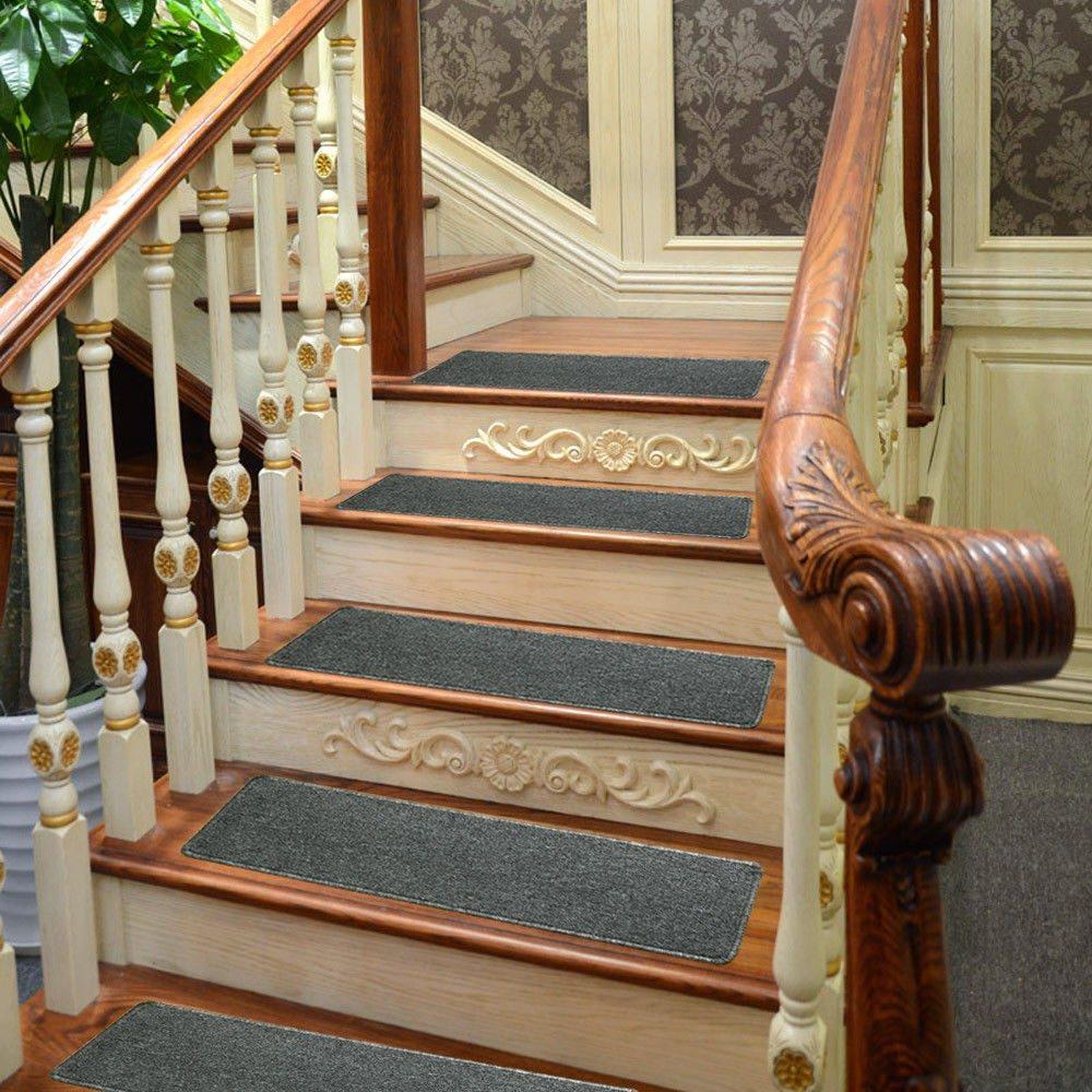 Conjunto de trece tapetes alfombra para escalera 0504 for Tappeti per scale in legno