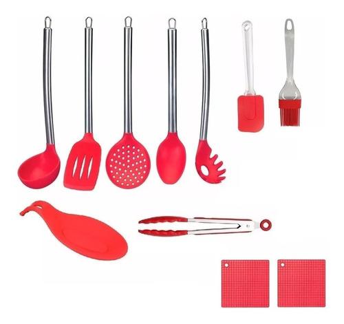 conjunto de utensílios de cozinha colheres de silicone 11 pç