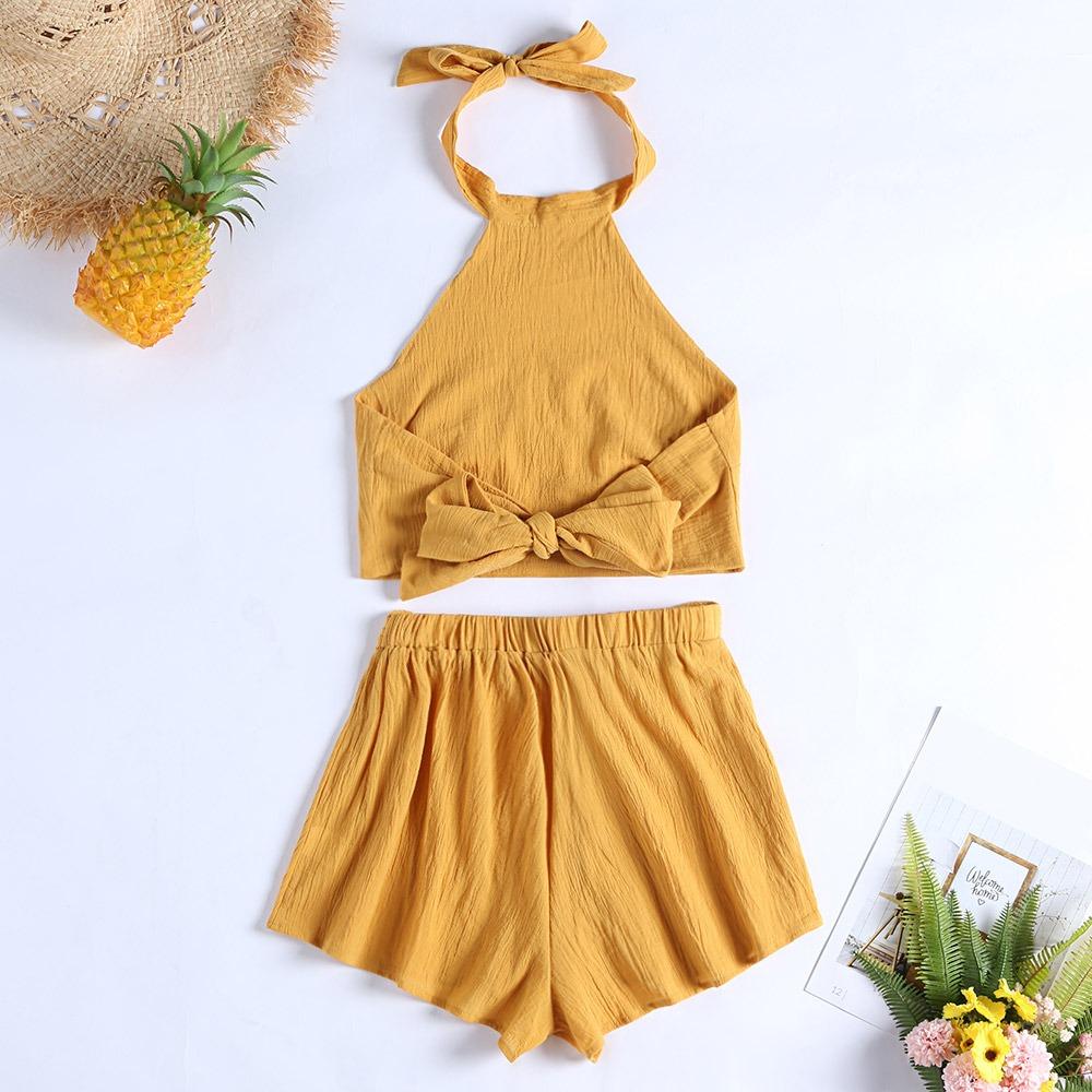 bajo precio cb3d3 79c3f Conjunto De Verano/playa, Blusa Y Pantalón Corto, Para Mujer
