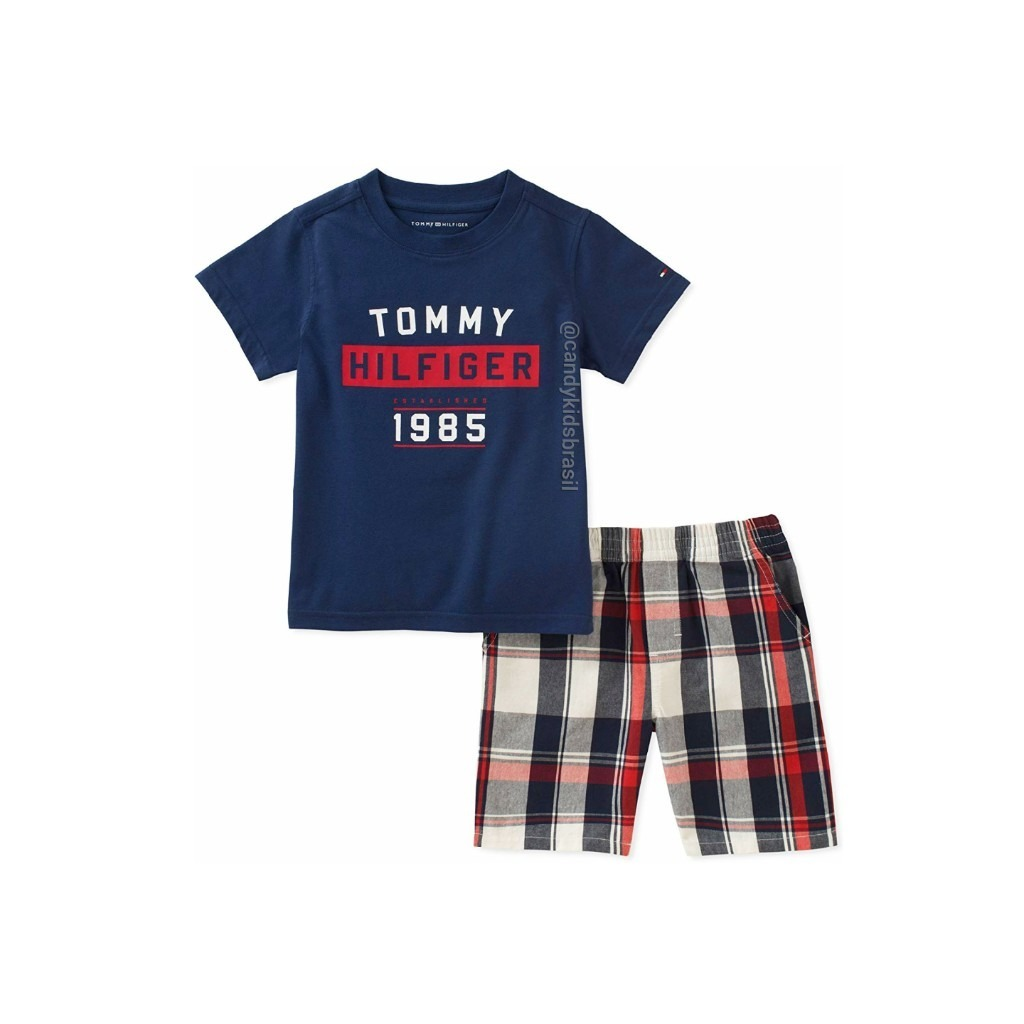 fe31b123f Conjunto De Verão Tommy Hilfiger - Meninos - R$ 174,90 em Mercado Livre
