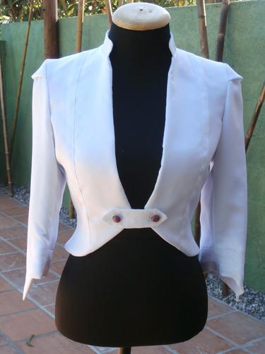 conjunto de vestido con cortes láser y chaqueta, talle 42.