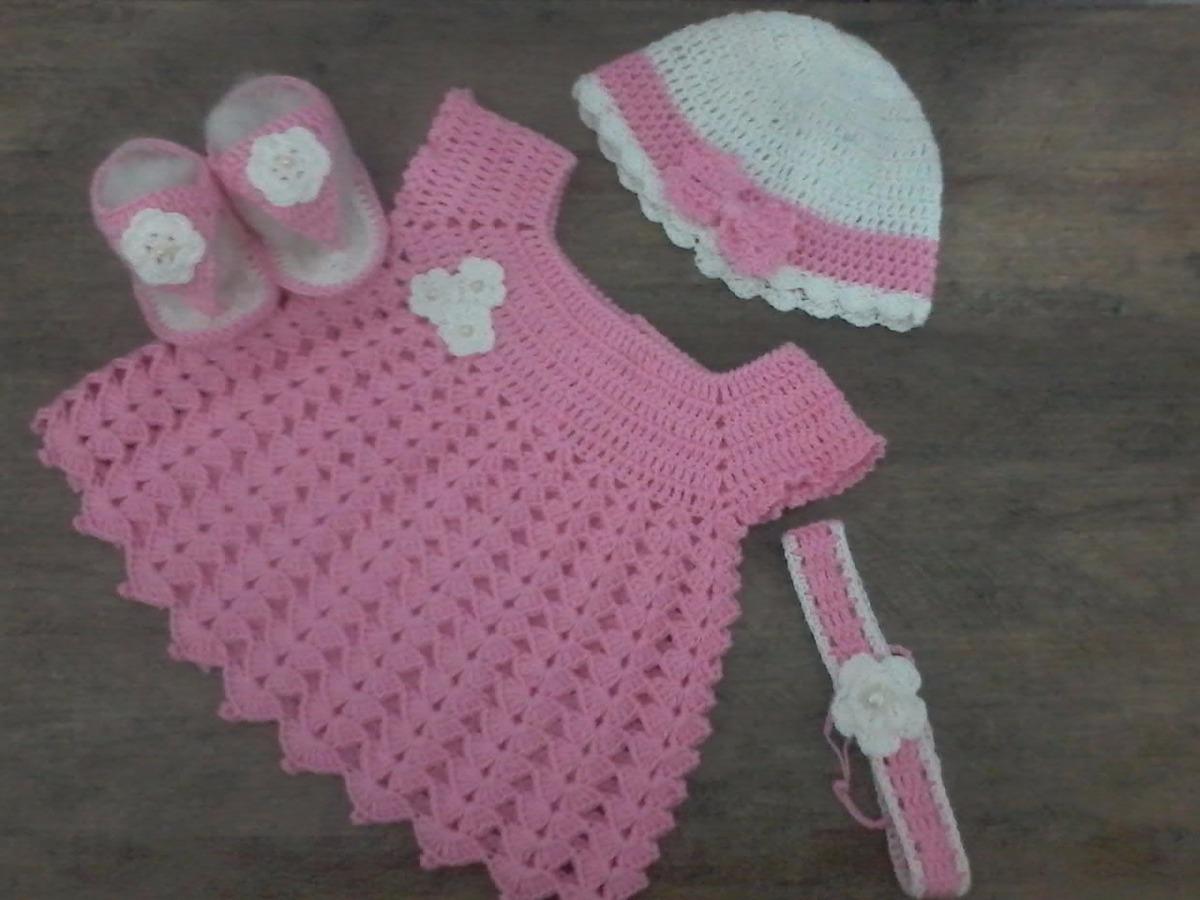 conjunto de vestido em croche para bebe. Carregando zoom. 3611492c6de