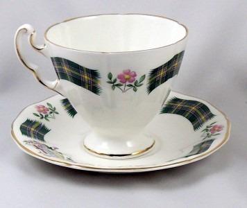 conjunto de xícara, royal adderley - alberta tartan.