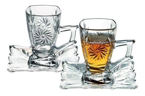 conjunto de  xícaras de vidro com 8 peças - wincy