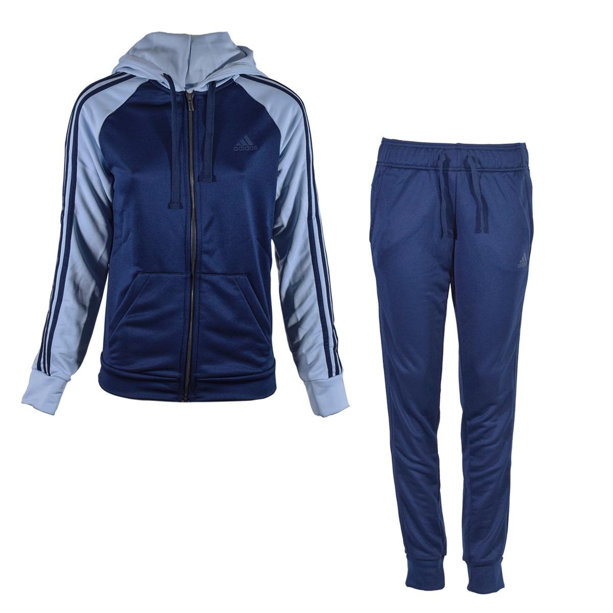 aa989dad802a5 conjunto deportivo adidas athletics re-focus ts mujer azul. Cargando zoom.