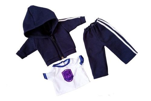 conjunto deportivo escolar ropa muñecas 45 cm/18 pulg witty