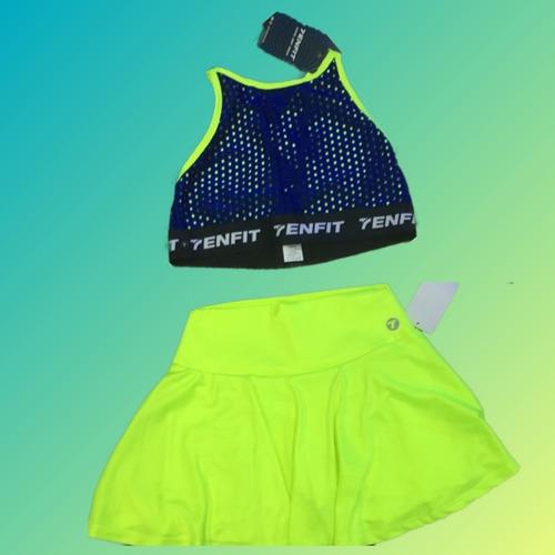 conjunto deportivo: faldashort y top