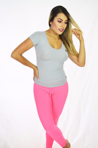conjunto deportivo mujer tela inteligente leggings / impoluz