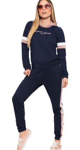 conjunto deportivo sudadera jogger y camibuzo mujer dama