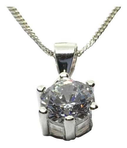 conjunto dije cadena y aros plata 925 con piedra (arg30014)