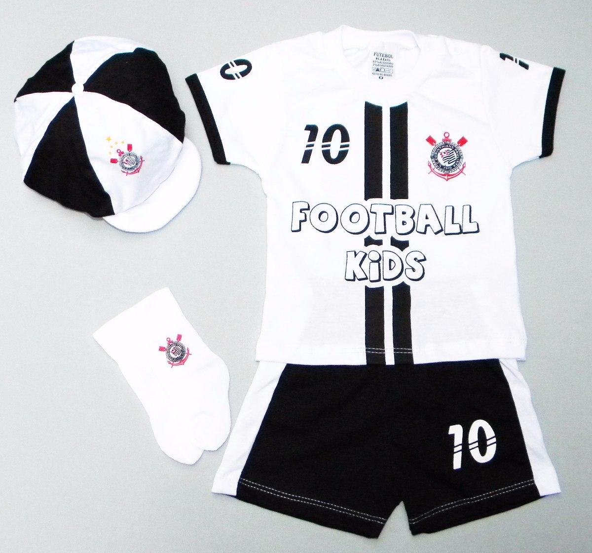 Conjunto Do Corinthians P  Bebê C  4 Peças 6f9856eb621ac